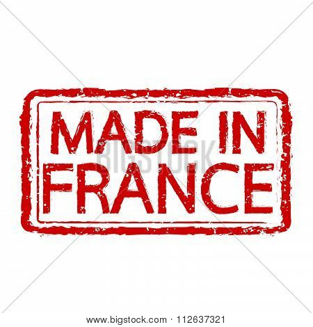 Made In France Stamp Text Illustration