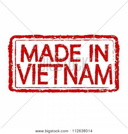Made In Vietnam Stamp Text Illustration