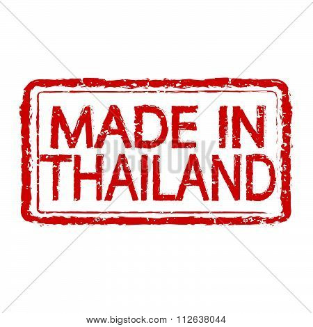 Made In Thailand Stamp Text Illustration
