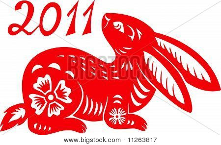 Chinese Zodiac of Rabbit Year.