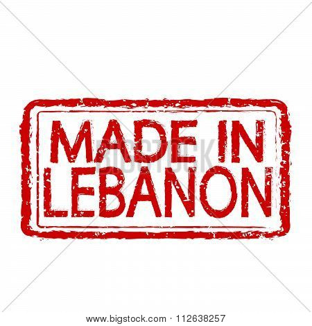 Made In  Lebanon Stamp Text Illustration