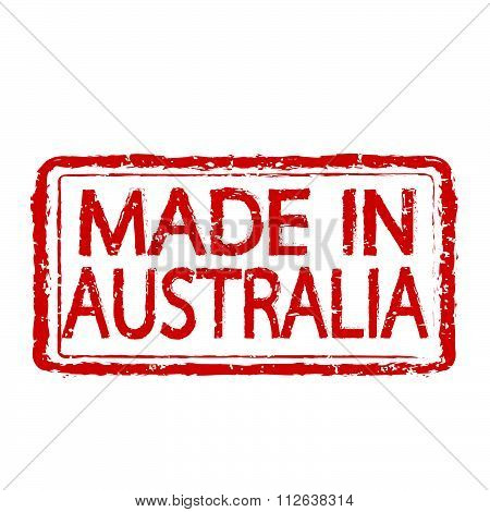 Made In Australia Stamp Text Illustration