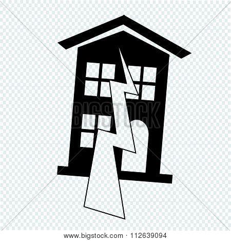 Earthquake Symbol Icon