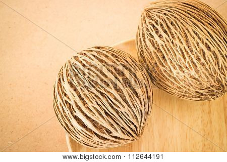 Dried Seeds With Beautiful Lines Of The Suicide Tree