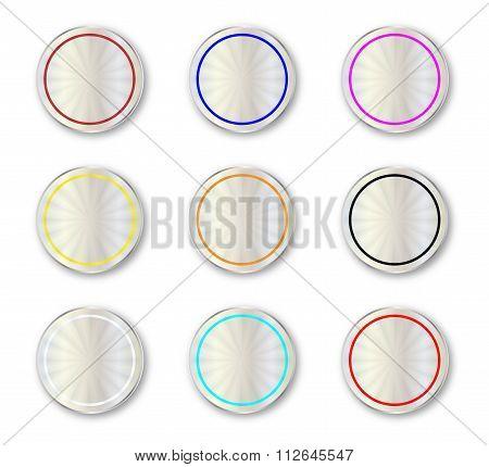 Metal Circular Buttons