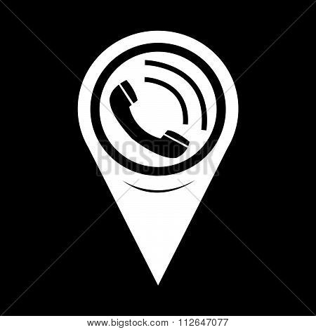Map Pointer Telephone Receiver Icon