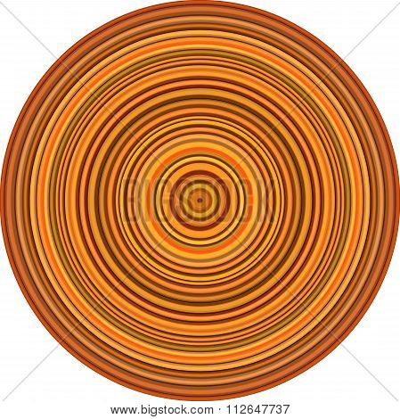 Concentric Pipes Circular Shape In Multiple Orange