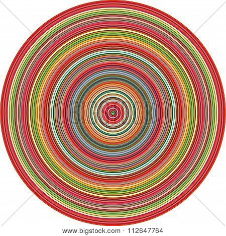 Concentric Pipes Circular Shape In Multiple Colors