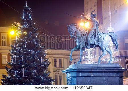 Statue Of Ban Josip Jelacic In Zagreb