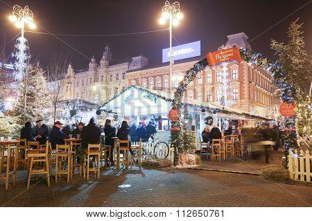 Advent Illumination On Jelacic Square