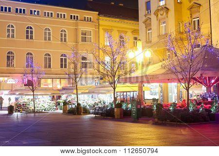 Advent On Cvjetni Square In Zagreb