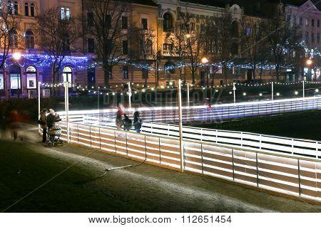 Ice Skating In Zagreb City