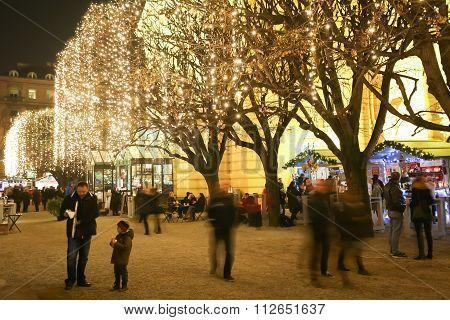 Illumination On Trees In Zagreb