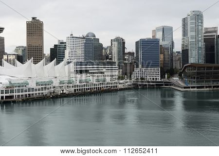 View of the harbour of Vancouver City, Canada