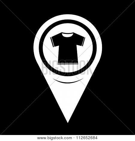Map Pointer Tshirt Icon