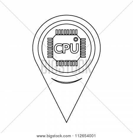 Map Pointer Cpu Icon