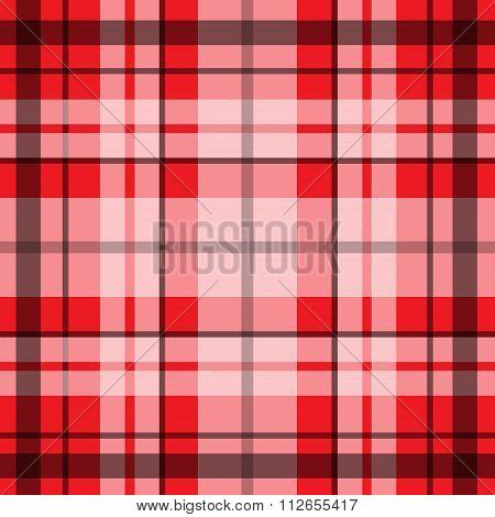 Vector seamless scottish tartan pattern in red balck and white.British or irish celtic design for te