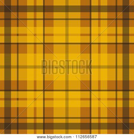 Vector seamless scottish tartan pattern in yellow orange and brown.British or irish celtic design fo