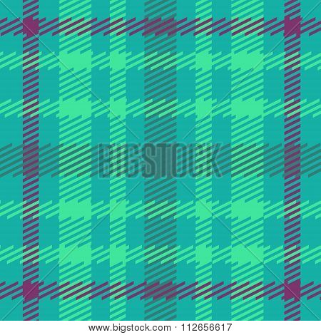 Vector seamless scottish tartan pattern in blue green turquoise and violet.British or irish celtic d