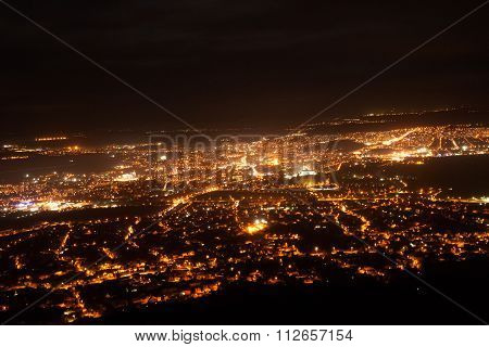 Night View Of The City Of Nitra