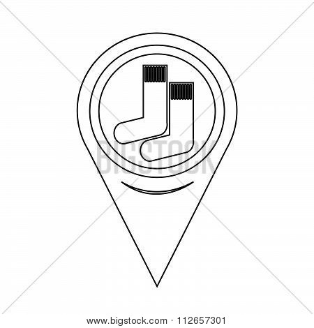 Map Pointer Sock Icon