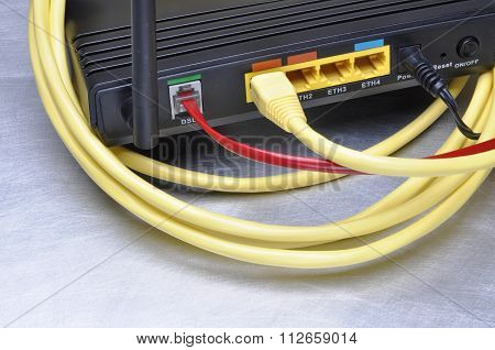 Computer network cable and internet router