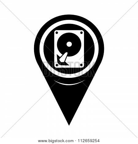 Map Pointer Hard Disc Icon