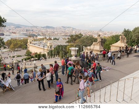 View From The Hill Of Montjuic Barcelona