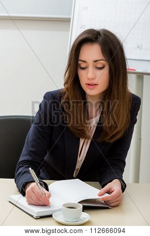 Secretary at the workplace.