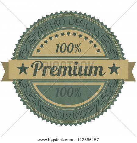 Vector illustration of a banner premium