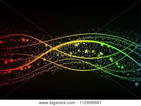 Vector illustration of a colored background