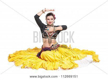 Beautiful Exotic Belly Tribal Dancer Woman