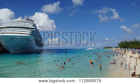 Carnival Breeze docked in Grand Turk, Turks and Caicos Islands