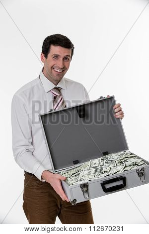Happy businessman.