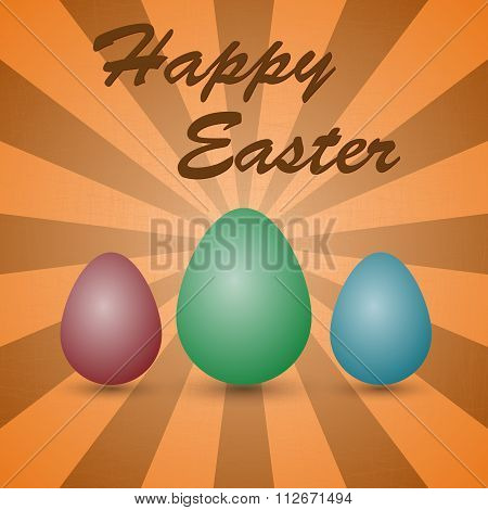Vector illustration background colored eggs