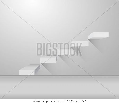 Grey Stair And Stylish Design On Illustration