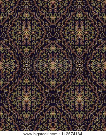 Seamless Pattern For Oriental Carpet.
