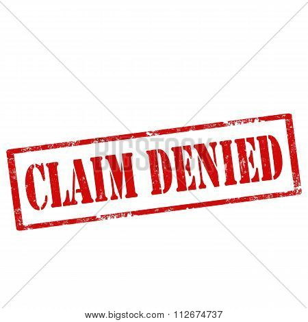 Claim Denied-stamp
