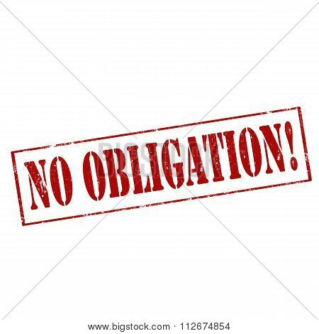 No Obligation!-stamp
