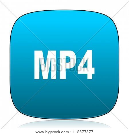 mp4 blue icon