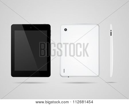 Tablet On Three Sides To Back And One Side