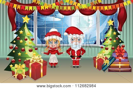 Santa And Mrs Claus In The House