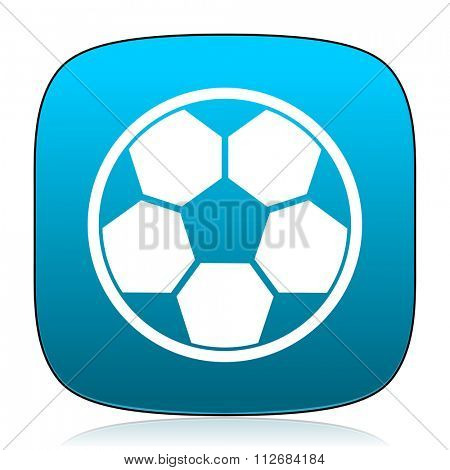 soccer blue icon