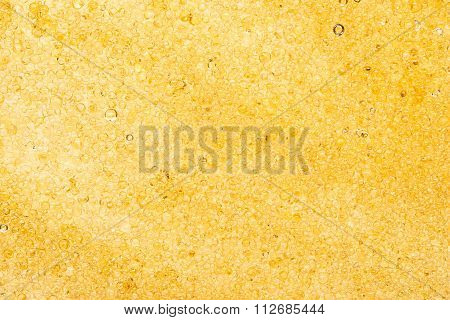 Close up of yellow plastic resins texture