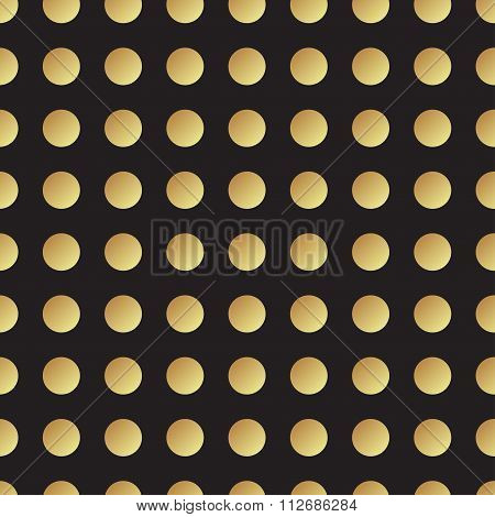 Universal Vector Black And Gold Seamless Pattern, Tiling.