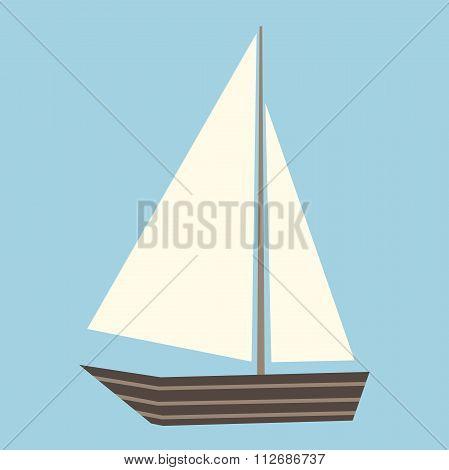 Sailing Boat Isolated