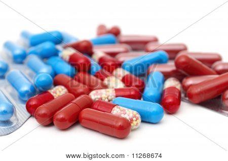 macro of medical pills