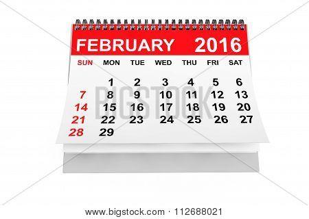 Calendar February 2016