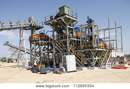 Industrial Diamond Mining Plant Under Construction