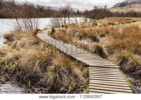 Boardwalk Loch Tay Near Killin.